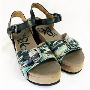 OTBT Danbury Sandals Platform Aztec Canvas